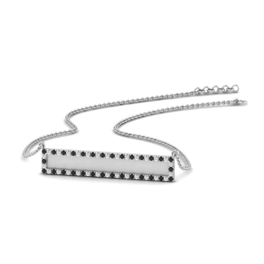 bar-necklace-with-black-diamond-in-FDPD9769GBLACK-NL-WG