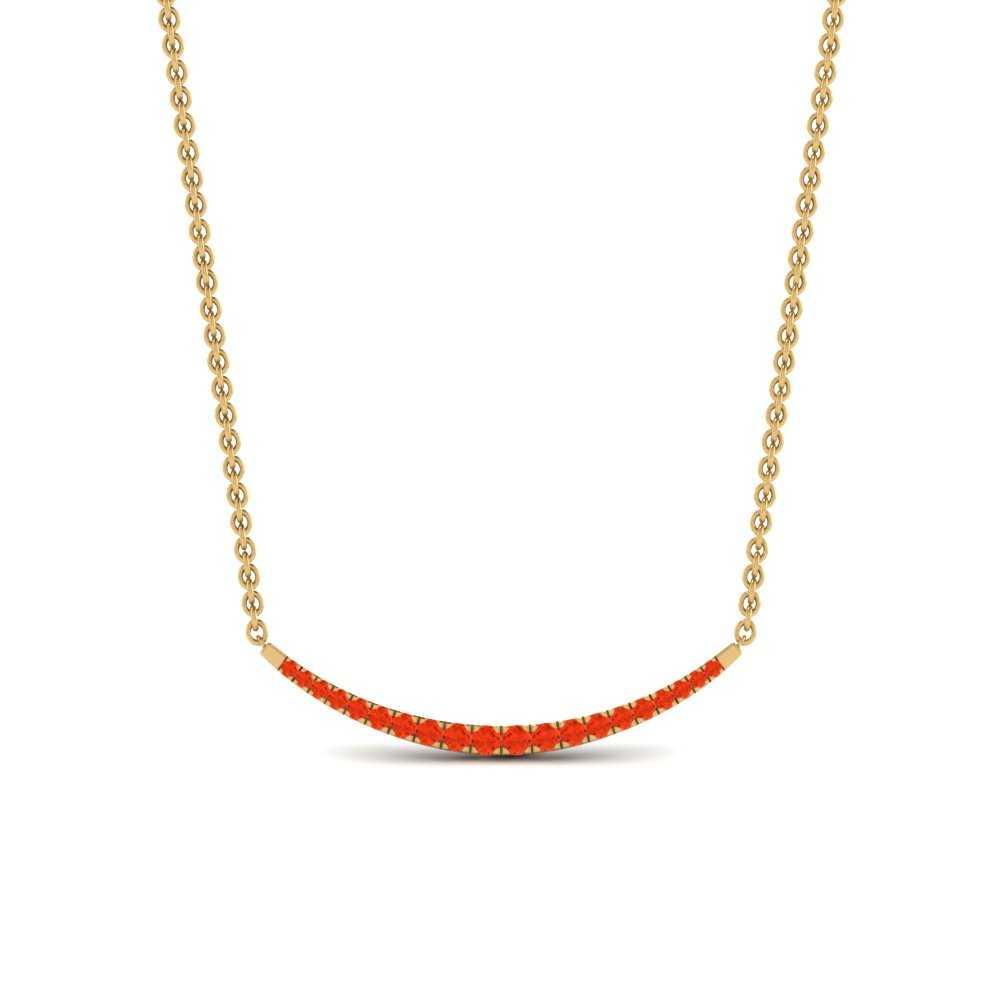 cute-smile-orange-topaz-pendant-in-FDPD9771GPOTOANGLE1-NL-YG