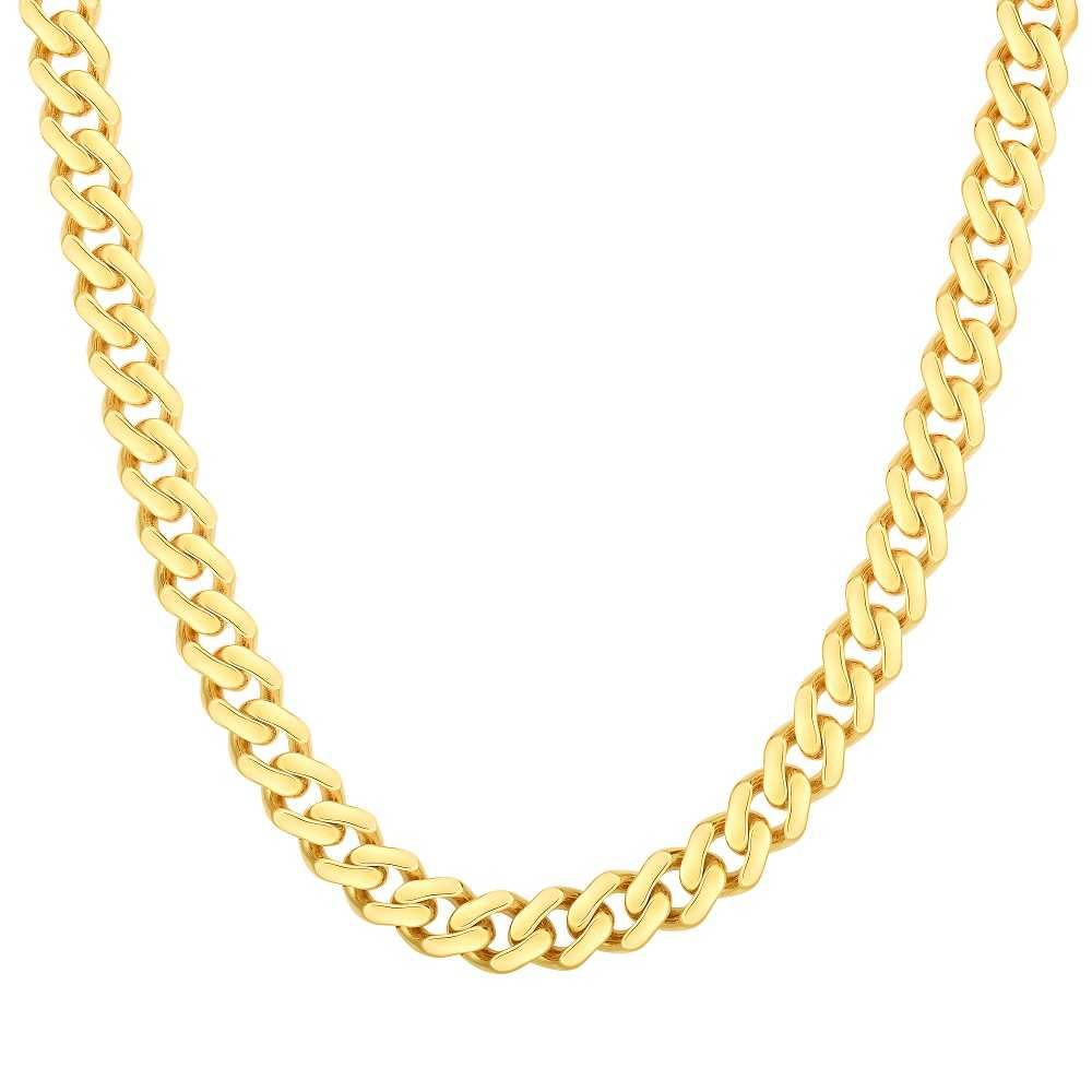 20-inch-14K-yellow-gold-cuban-chain-necklace-for-women-FDRC10610-6.5mm-20-NL-YG