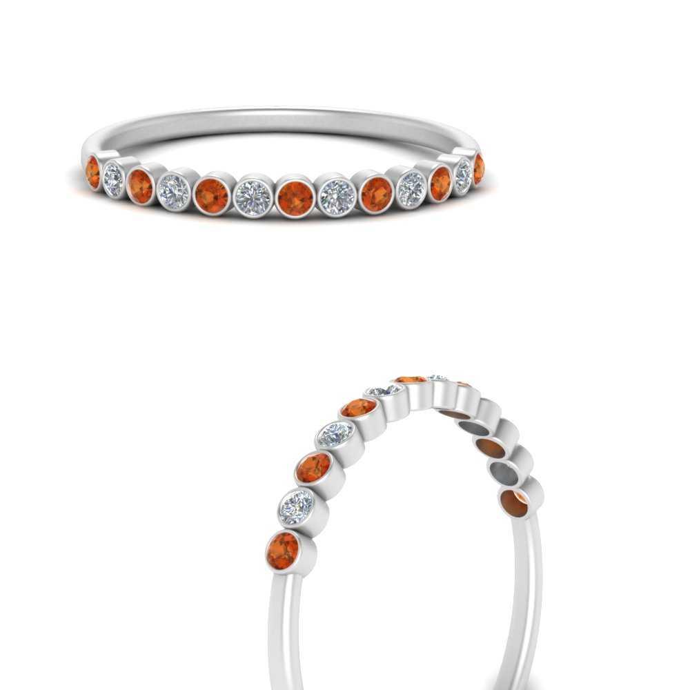 diamond-bezel-set-thin-stack-band-with-orange-sapphire-in-FDWB1408BGSAORANGLE3-NL-WG