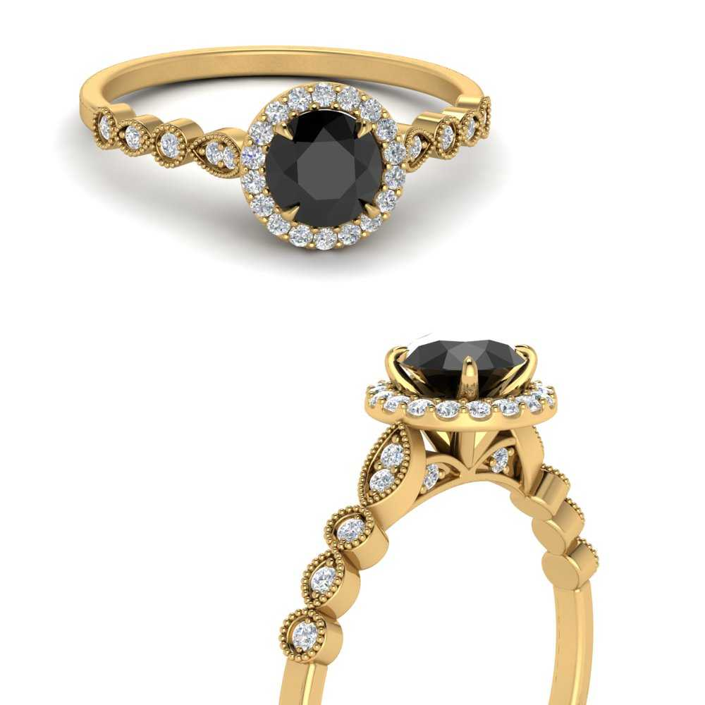 black-diamond-vintage-inspired-halo-engagement-ring-in-FDENS3274RORGBLACKANGLE3-NL-YG-GS