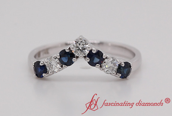 Anniversary Band With Sapphire