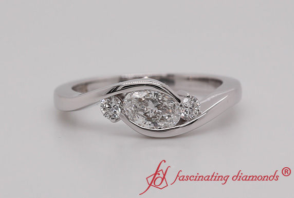 Oval Shaped 3 Stone Ring