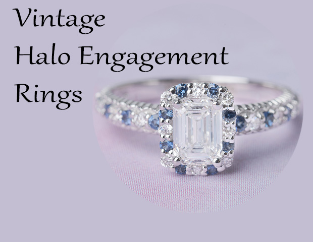 Gorgeous Vintage Halo Engagement Rings