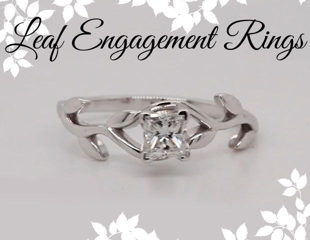 Beautiful Leaf Engagement Rings