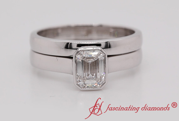 Solitaire Lab Made Diamond Ring Set