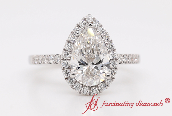 Halo Lab Diamond Engagement Ring