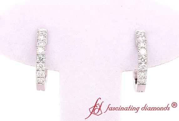 Platinum Diamond Hoop Earring