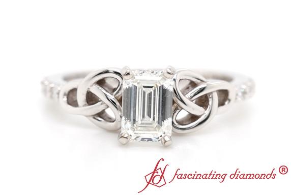 Delicate Cut Diamond Celtic Ring