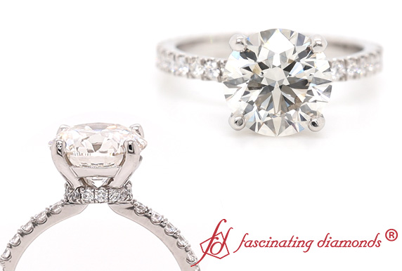 Eternity Under Halo Delicate Ring