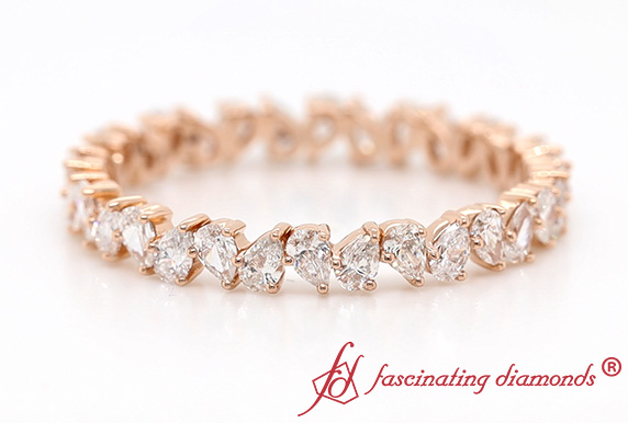Pear Shaped Eternity Wedding Band