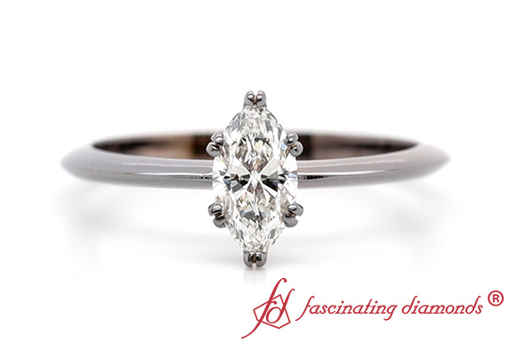 Solitaire Tapered Marquise Cut Ring