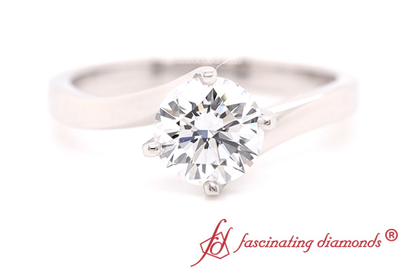 Twisted Solitaire Lab Diamond Ring