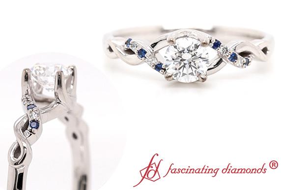 Round Lab Diamond Twist Ring