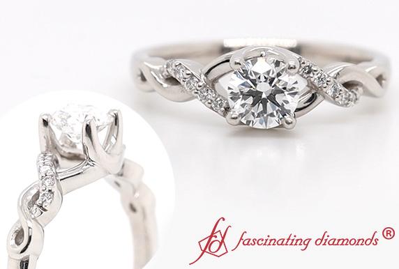U Prong Lab Made Diamond Ring