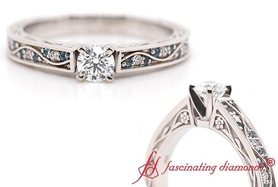 Vintage Diamond Ring With Topaz
