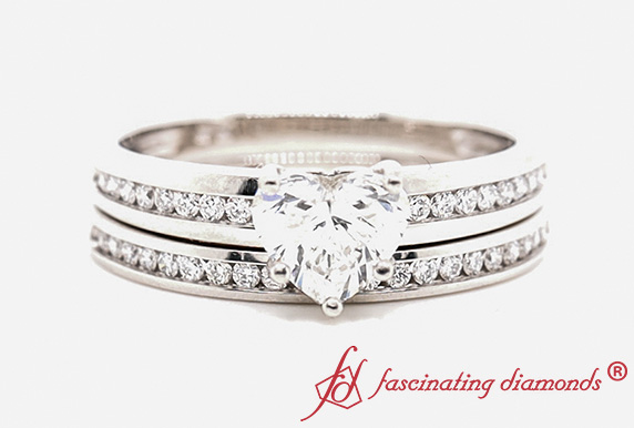 Channel Diamond Ring And Band
