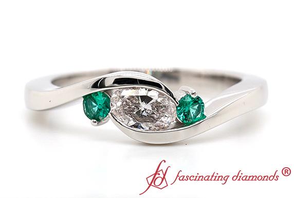 3 Stone Lab Diamond Ring