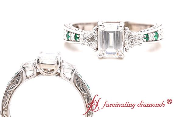 Antique Trillion Diamond Ring