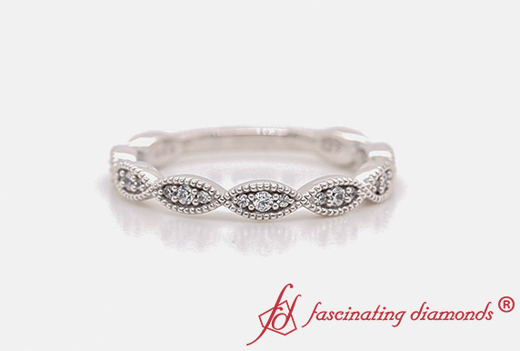 Marquise Eye Stack Diamond Band