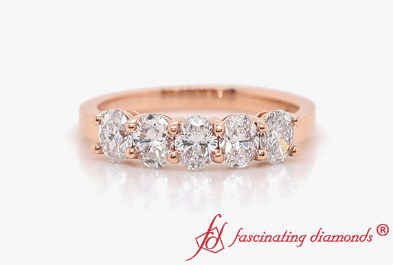Oval Shaped 5 Stone Ring