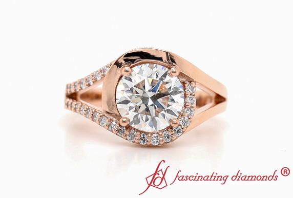 Swirl Lab Created Diamond Ring