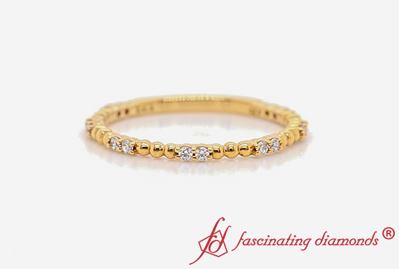 Thin Diamond Dot Women Band