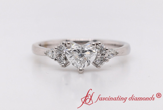 Heart Shaped Lab Diamond Ring