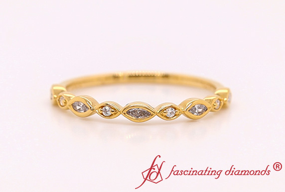 Gold Stackable Diamond Band