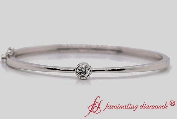 Diamond Solitaire Bangle Bracelet