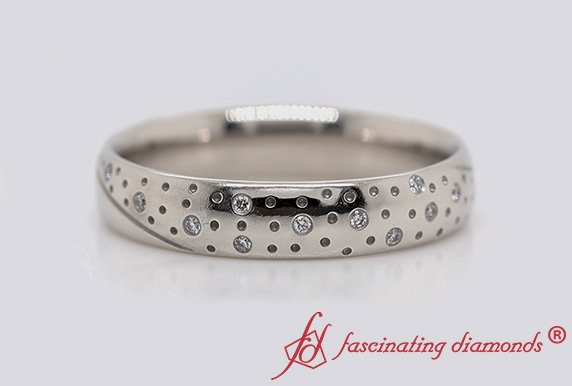 Classic Mens Diamond Wedding Ring