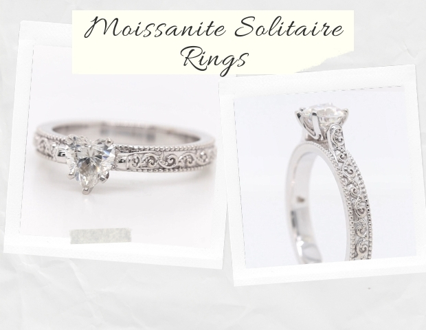 Moissanite Solitaire Rings
