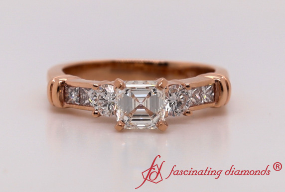 Channel Bar Set Diamond Ring