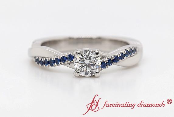 Infinity Twist Diamond Ring
