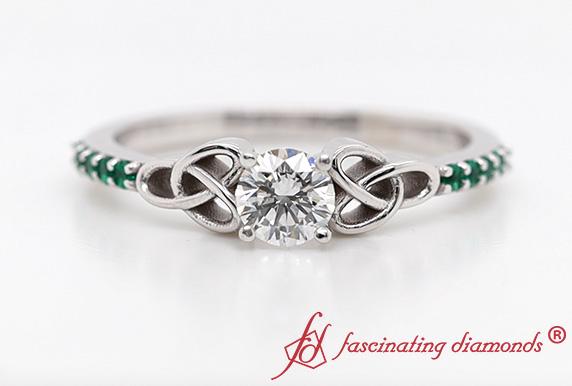 Petite Celtic Lab Diamond Ring