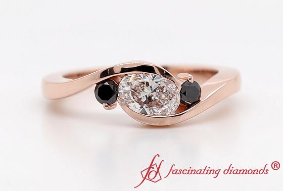 Twist 3 Stone Engagement Ring