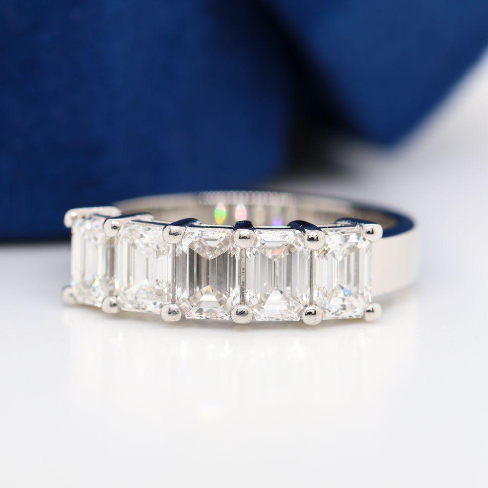 2.5 Ct. Emerald Cut Diamond Wedding Anniversary Band In Platinum