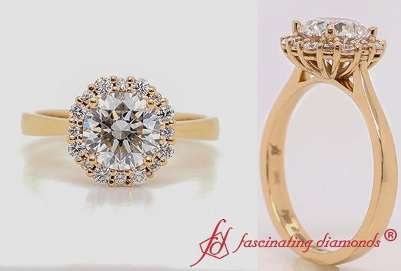 Floating Halo Lab Diamond Ring