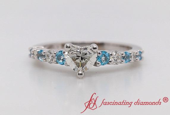 Graduated Heart Diamond Ring