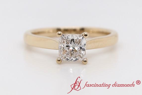 High Set Lab Diamond Solitaire Ring