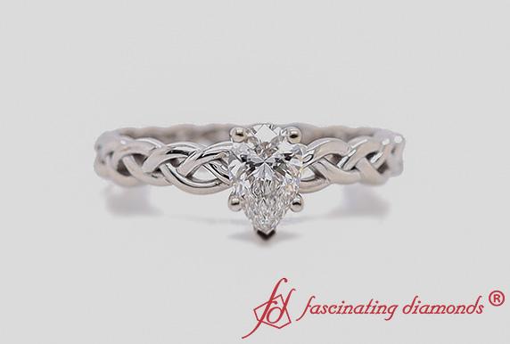 Braided Solitaire Lab Diamond Ring