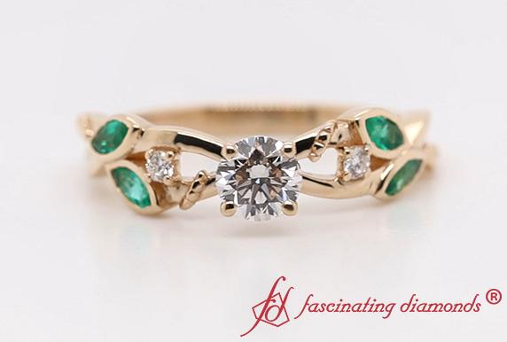 Delicate Flower Lab Diamond Ring