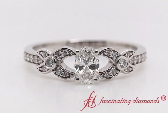 Flower Pave Diamond Ring