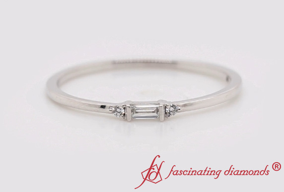 Thin Baguette Stackable Ring