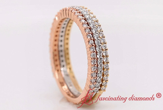 Tri Tone Stackable Band