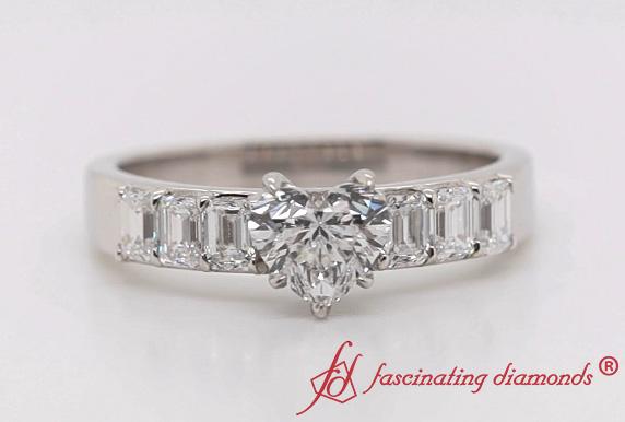 Accent Luxury Heart Diamond Ring