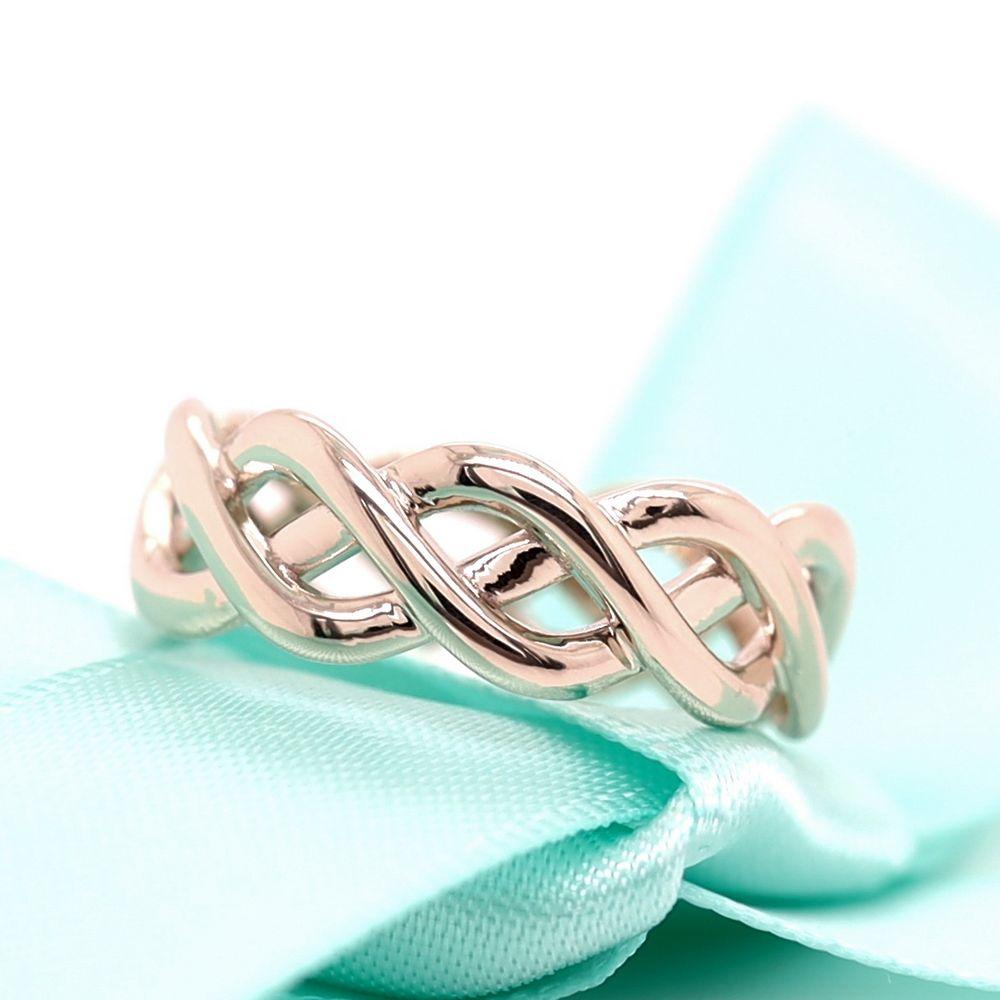 Braided Gold Wedding Ring In 14K White Gold