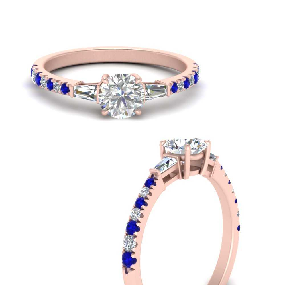 delicate-antique-pave-lab diamond-engagement-ring-with-sapphire-in-FDENR1801RORGSABLANGLE3-NL-RG