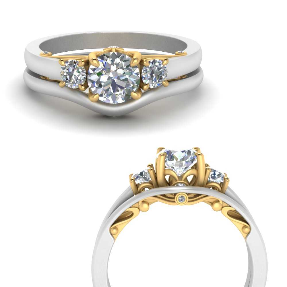 delicate-vintage-2-tone-wedding-diamond-ring-in-FD123398TROANGLE3-NL-YG