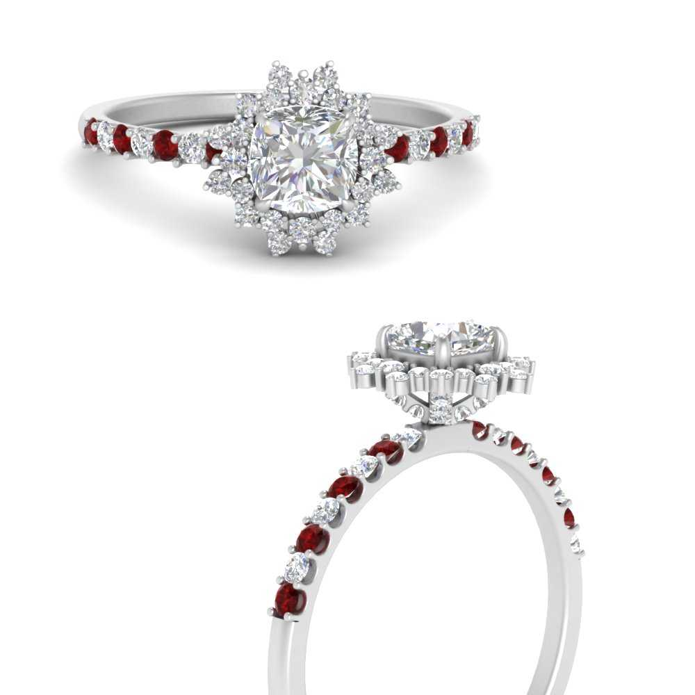 floral-art-deco-cushion-cut-diamond-engagement-ring-with-ruby-in-FDENS3149CURGRUDRANGLE3-NL-WG